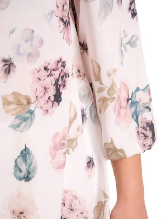 Oryginalna bluzka, tunika z gumką przy dekolcie 29503