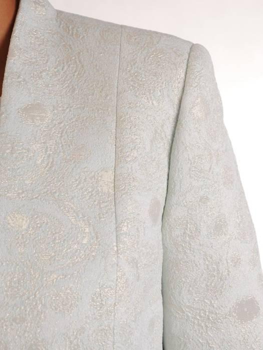 Pastelowa sukienka z żakardowym żakietem 26831