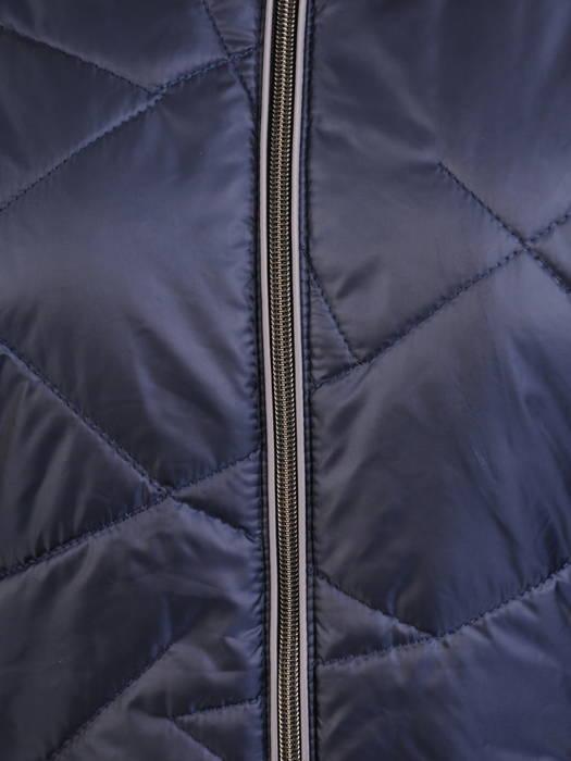 Pikowana kurtka damska na jesień w granatowym kolorze 30801