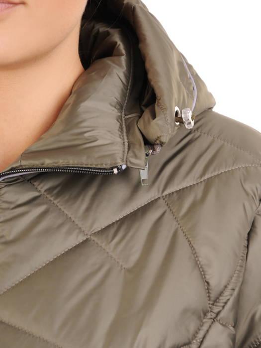 Pikowana kurtka damska na jesień w zielonym kolorze 30799