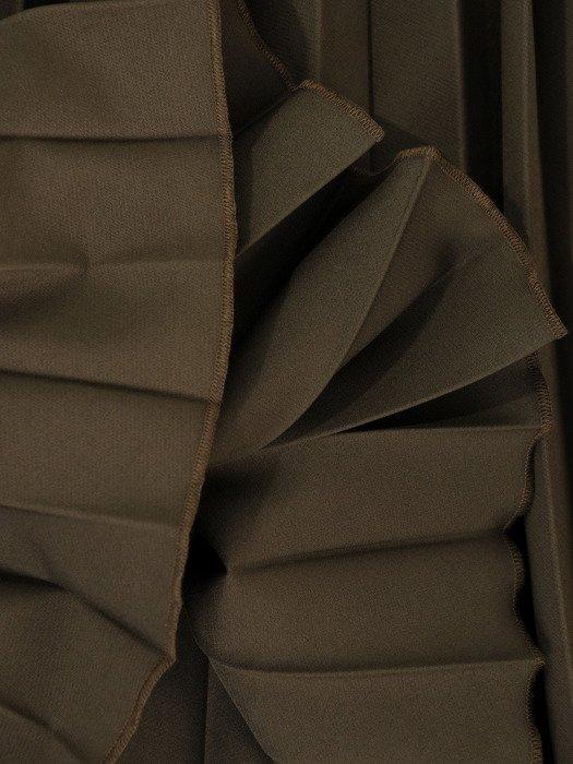 Plisowana spódnica z szerokim pasem 18304.