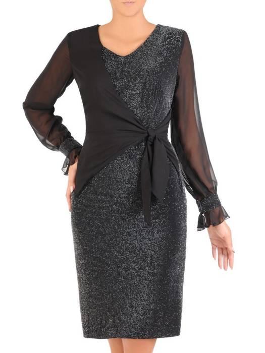 Połyskująca sukienka z ozdobnym, wyszczuplającym wiązaniem 27381