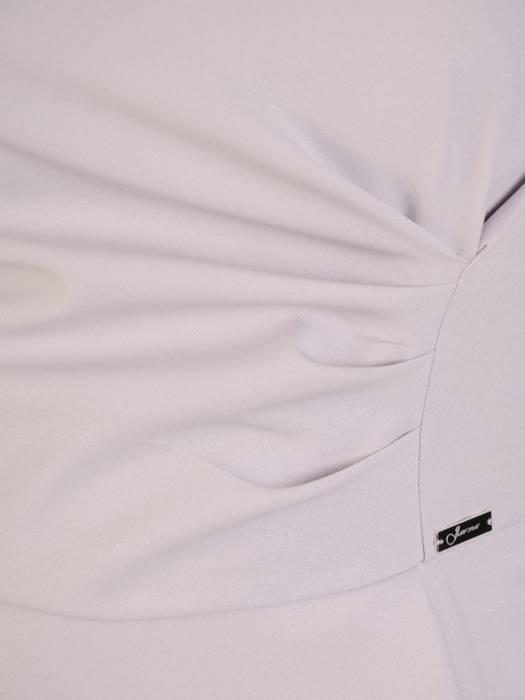 Popielata sukienka wizytowa z efektowną baskinką 30459