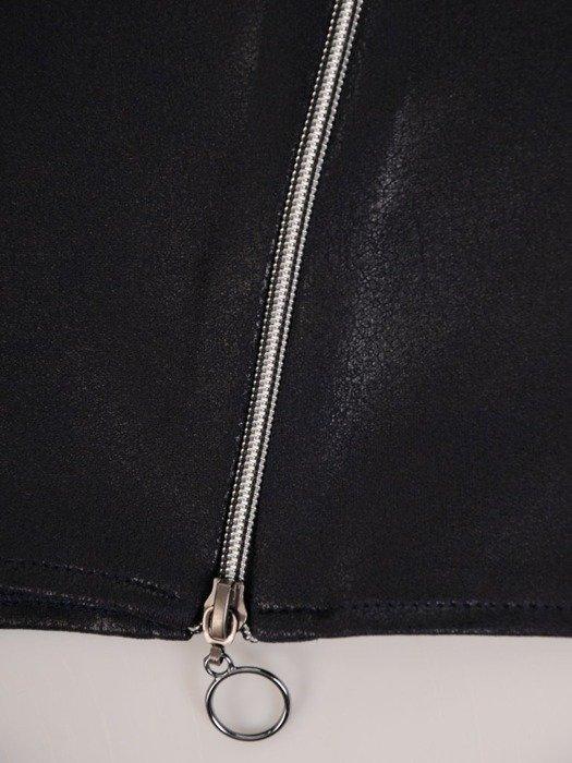 Prosta spódnica z dzianiny imitującej skórę 24253