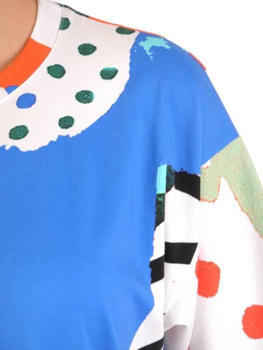 Prosta sukienka z bawełny, letnia kreacja z kieszeniami 30089
