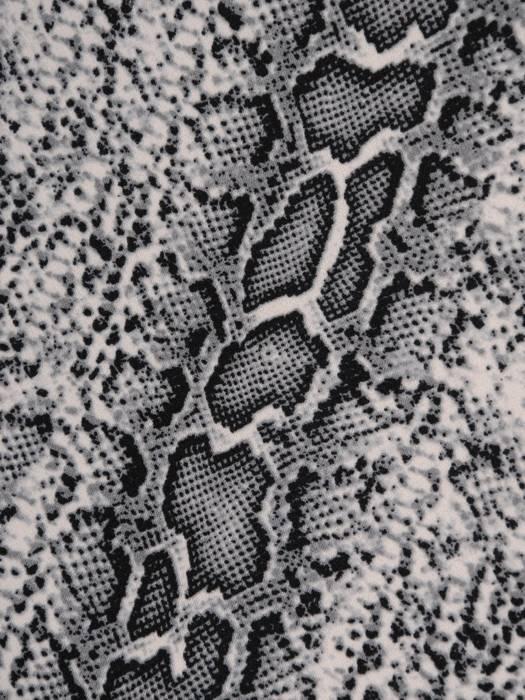 Prosta sukienka z dzianiny, kreacja w zwierzęcym wzorze 28976