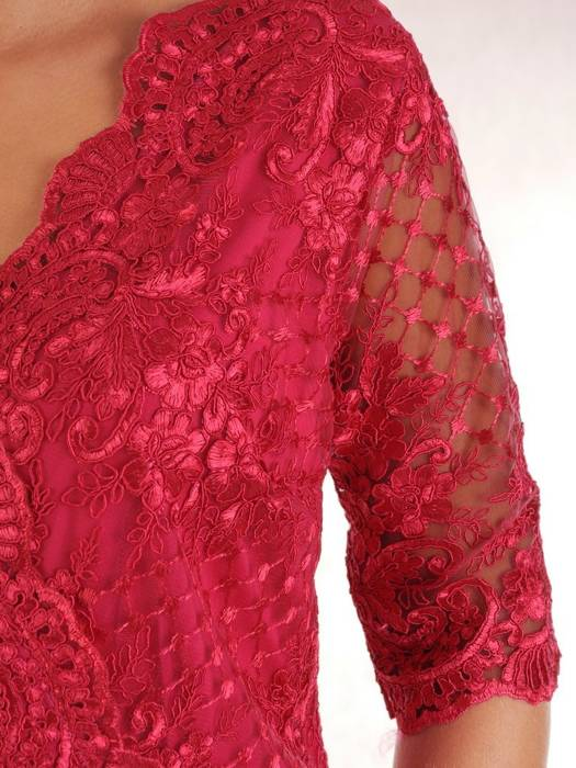 Prosta sukienka z kopertowym dekoltem, kreacja na wesele 26872