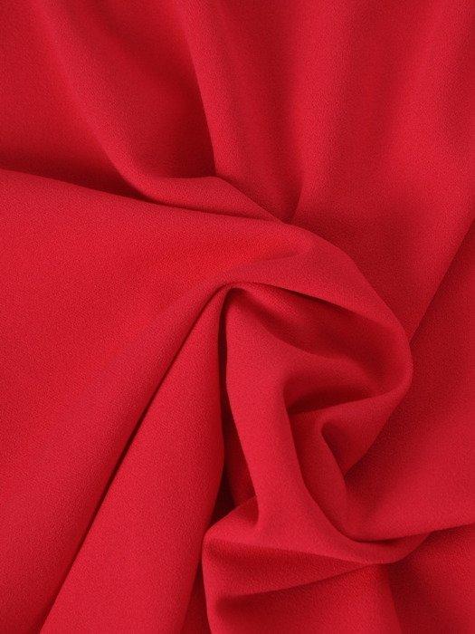 Prosta sukienka z koronkową narzutką 17165, kreacja maskująca brzuch i biodra.