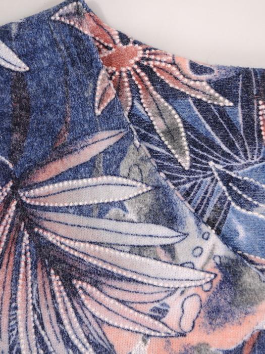 Prosta sukienka z modnym, kolorowym nadrukiem 21913