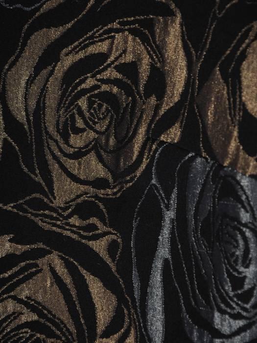 Prosta sukienka z ozdobnym złotym zamkiem, modna kreacja wyszczuplająca 27047