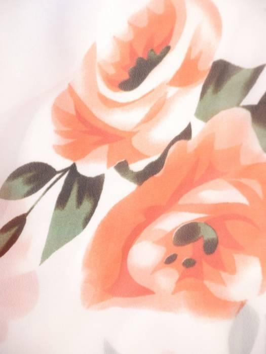 Rozkloszowana sukienka maxi, kopertowa kreacja z szyfonu 29992