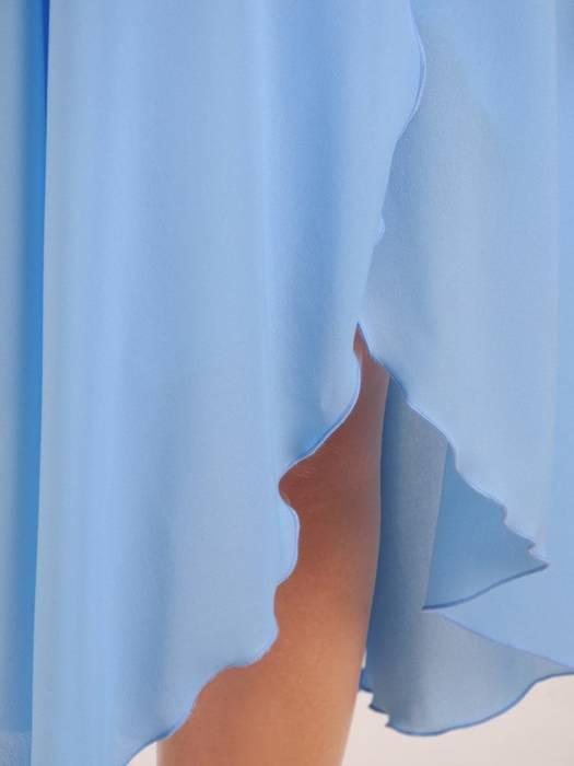 Rozkloszowana sukienka maxi, kreacja ze zwiewnego szyfonu 30268