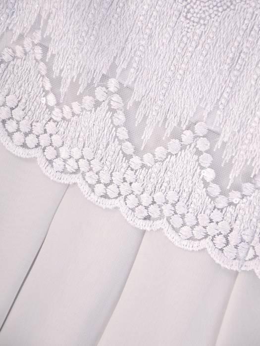 Rozkloszowana sukienka na wesele, kreacja z koronkowym topem 30431