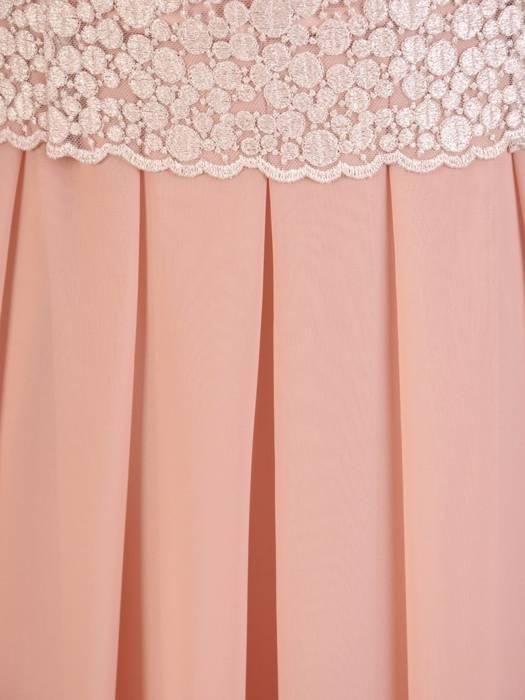 Rozkloszowana sukienka na wesele, kreacja z koronkowym topem 30433