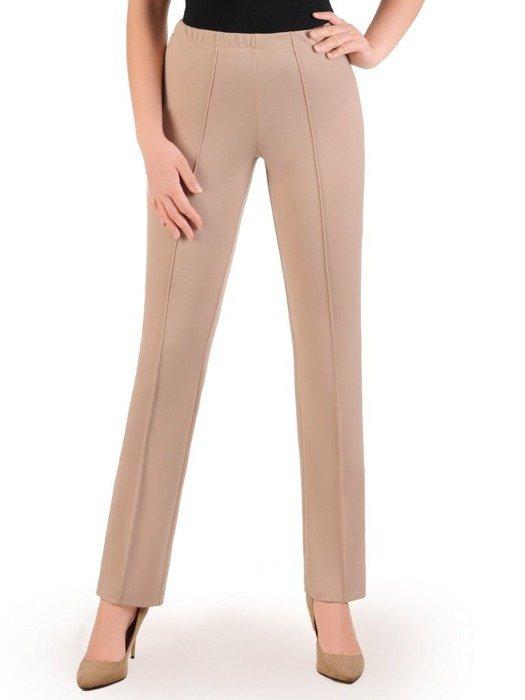 Spodnie damskie z przeszyciami i gumą w pasie 25830