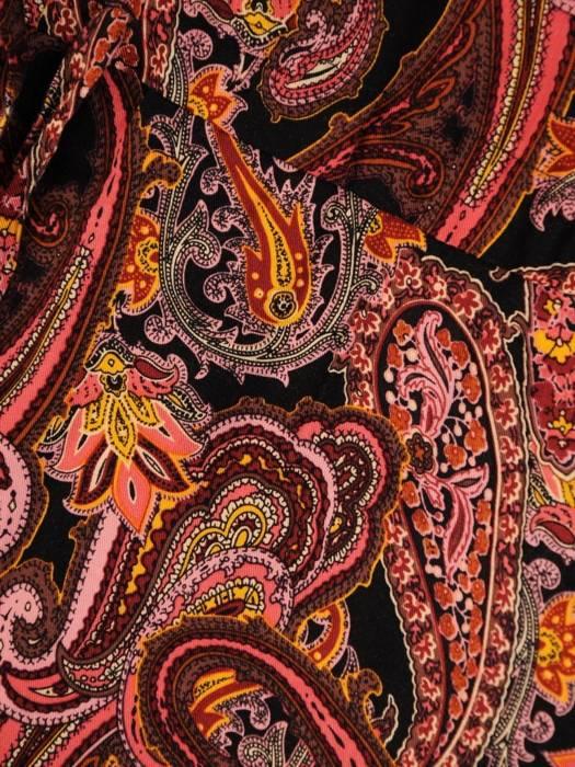 Sukienka boho z guzikami przy dekolcie i wiązaniem w pasie 30344