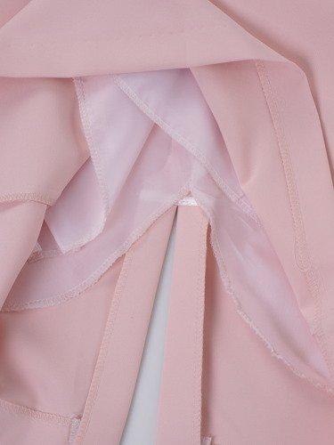 Sukienka damska 14739, elegancka kreacja z koronkowymi rękawami.