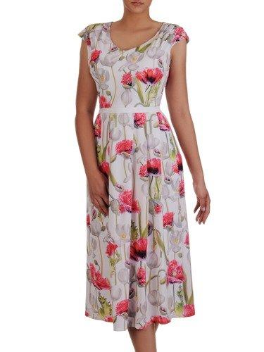 Sukienka damska 16753, zwiewna kreacja w kwiaty.