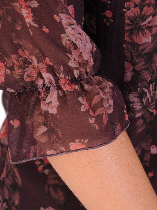 Sukienka damska 18808, zwiewna kreacja w kwiaty.