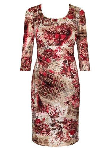 Sukienka damska Adison V, jesienna kreacja z dzianiny.