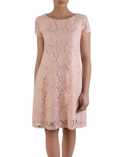 Sukienka damska Adomina III, klasyczna kreacja z koronki.