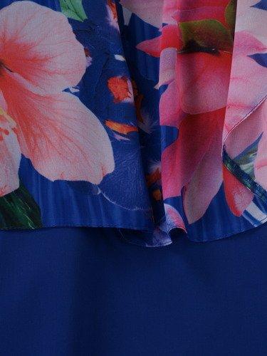 Sukienka damska Cecilia, wiosenna kreacja w fasonie maskującym brzuch.