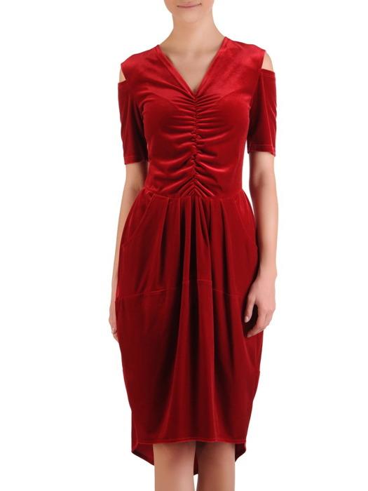 Sukienka damska Donna, czerwona kreacja w oryginalnym fasonie.