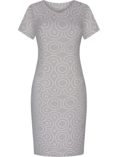 Sukienka damska Elfryda V, elegancka kreacja z tkaniny żakardowej.