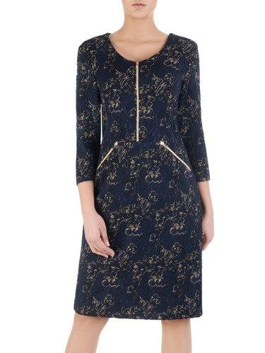 Sukienka damska Hana I, elegancka kreacja z modnymi suwakami.
