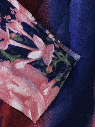 Sukienka damska Krystal, oryginalna kreacja w kwiaty.