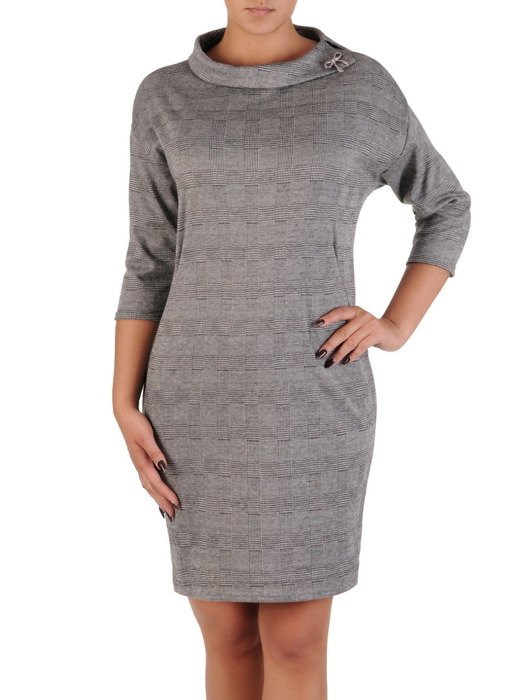 Sukienka damska Laryssa, jesienna kreacja z golfem.