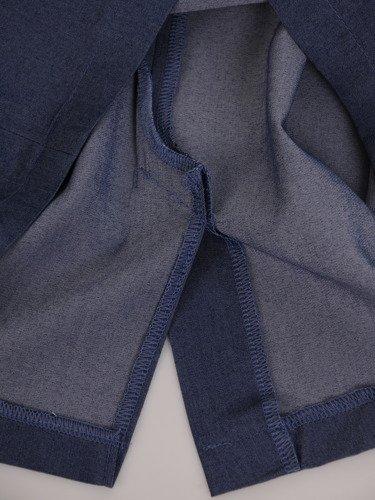 Sukienka damska Longina I, wiosenna kreacja z tkaniny imitującej dżins.