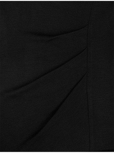 Sukienka damska Marieta I, czarna kreacja z dzianiny.