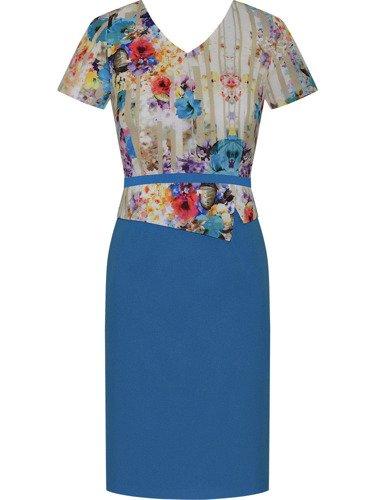 Sukienka damska Penelopa II, wiosenna kreacja z baskinką.