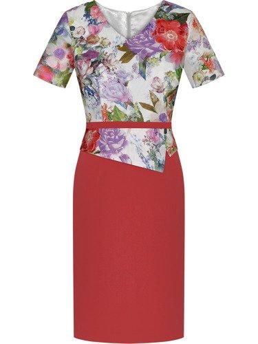Sukienka damska Penelopa III, wiosenna kreacja z baskinką.