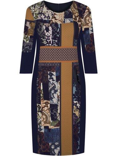 Sukienka damska Tamiła, jesienna kreacja w oryginalnym wzorze.