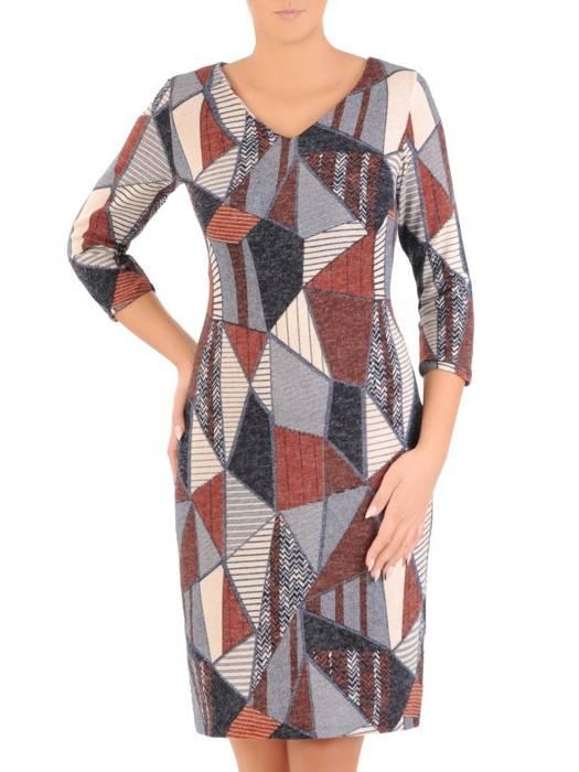 Sukienka damska, dzianinowa kreacja na jesień 27542