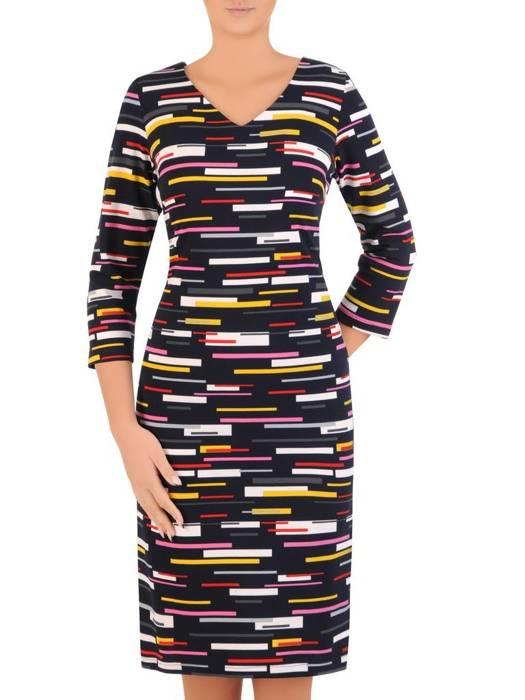 Sukienka damska, dzianinowa kreacja na jesień  27702