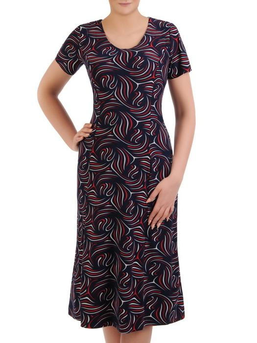 Sukienka damska, dzianinowa kreacja w długości midi 20682.