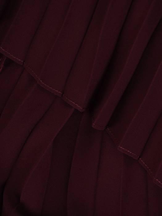 Sukienka damska, fioletowa kreacja z plisowanymi rękawami 26522