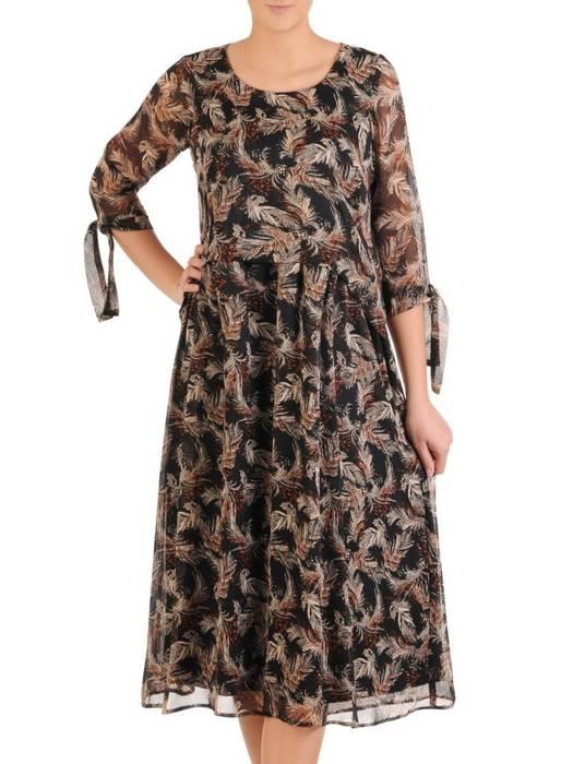 Sukienka damska, wizytowa kreacja w luźnym fasonie 28872