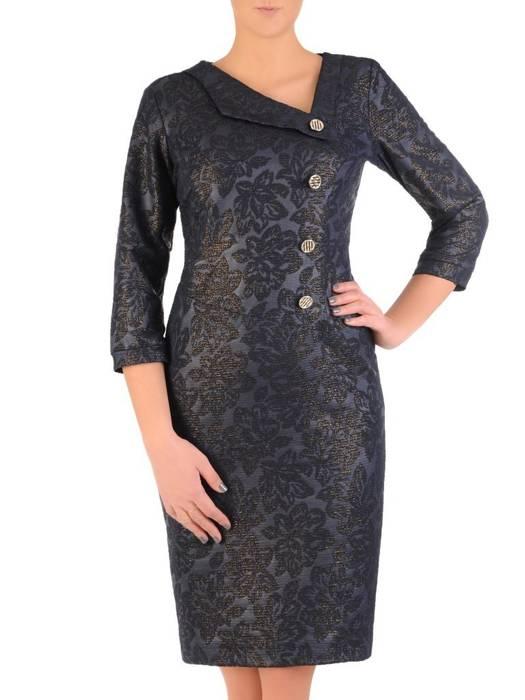 Sukienka damska z wytłaczanej dzianiny 28559