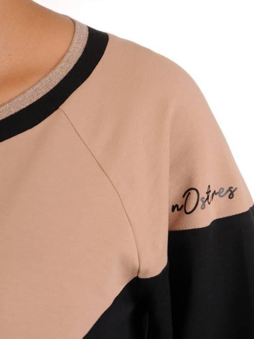 Sukienka dresowa z modnymi rękawami 27883