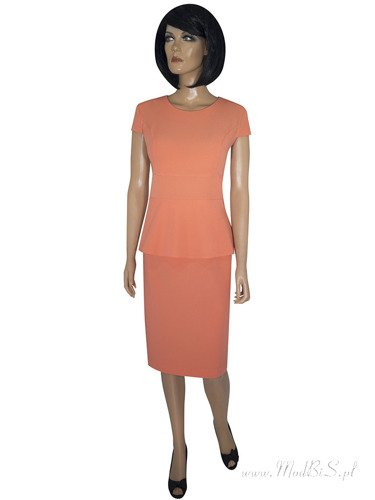 Sukienka koktajlowa Neli III, modna kreacja z baskinką na lato.