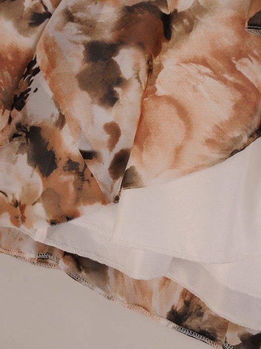 Sukienka koktajlowa, rozkloszowana kreacja z szyfonu 25974