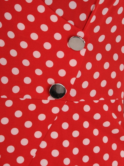 Sukienka kopertowa, modna kreacja z łączonych tkanin 19825.
