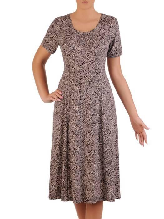 Sukienka letnia, rozkloszowana kreacja z dzianiny 26331