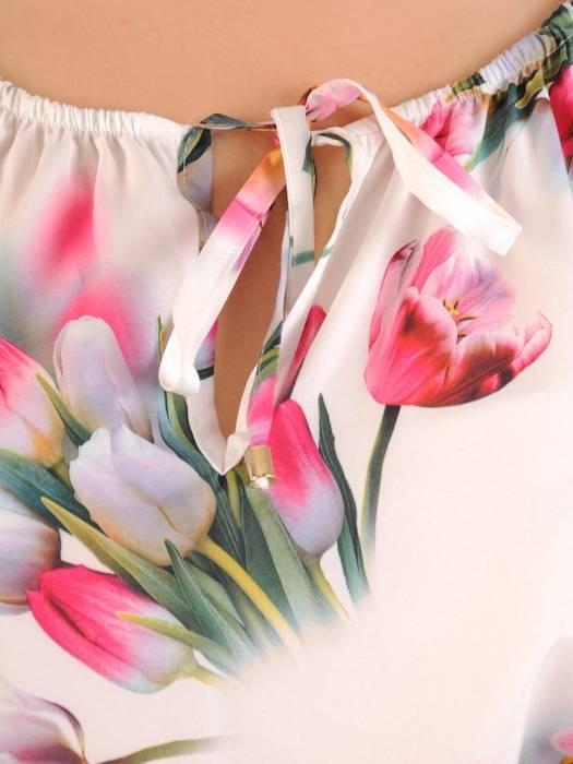 Sukienka maxi, elegancka kreacja z rozcięciem 30109