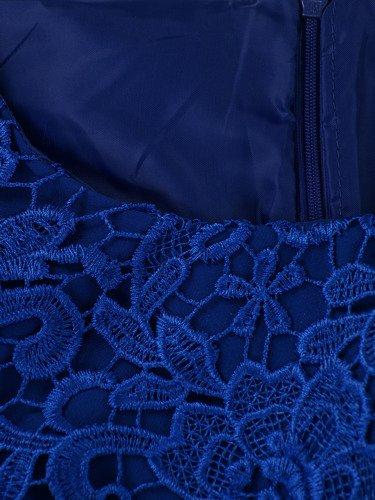 Sukienka na wesele Wirginia I, elegancka kreacja z gipiury i tkaniny.
