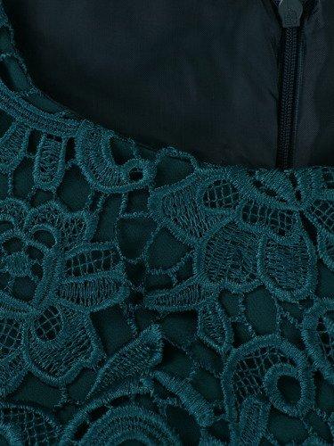Sukienka na wesele Wirginia XXII, elegancka kreacja z gipiury i tkaniny.